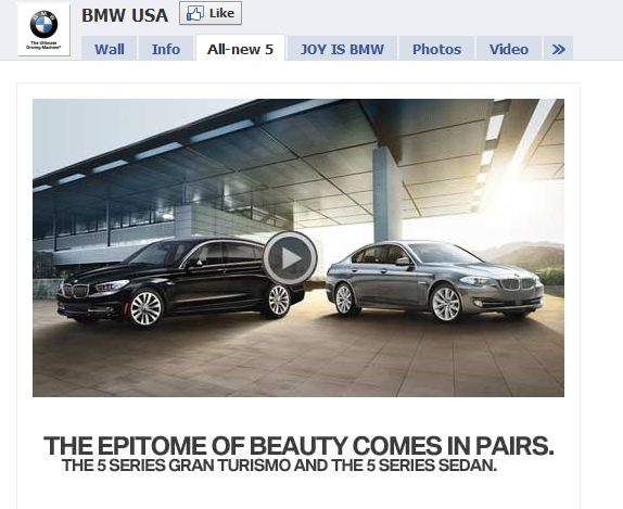 BMW USA Fan Page in Facebook