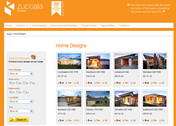 Zuccala Homes Home Designs