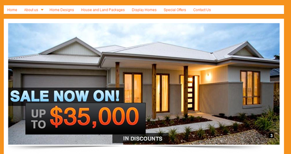 Zuccala Homes Website - Front Page