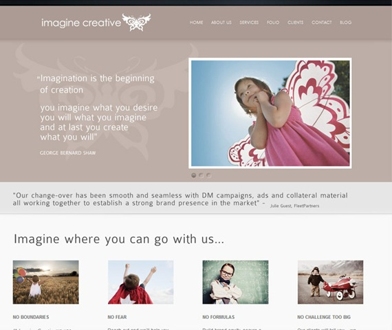 Imagine Creative WordPress Blog
