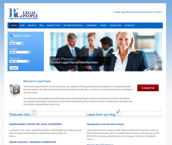 Wordpress Website for Legal People