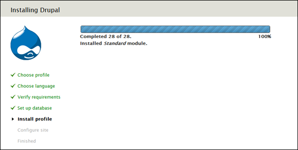 Drupal 7 - Installation Screen