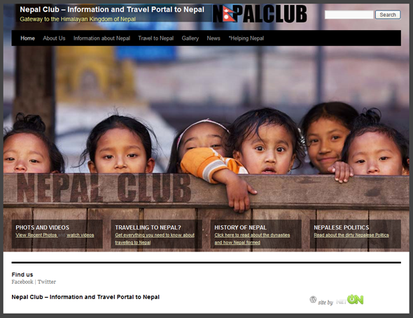 NepalClub WordPress Website