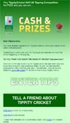 email newsletter - Tippity Cricket
