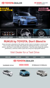 email newsletter showcase - Toyota Dealer